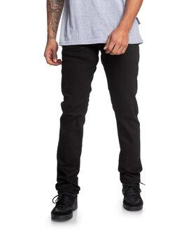 BLACK RINSE MENS CLOTHING DC SHOES JEANS - EDYDP03406-KVJW
