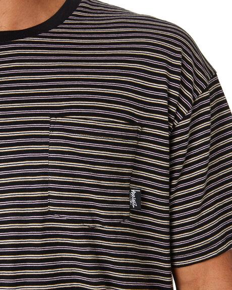 BLACK MENS CLOTHING STUSSY TEES - ST093105BLK