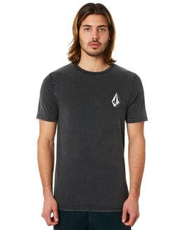 BLACK MENS CLOTHING VOLCOM TEES - A5041772BLK