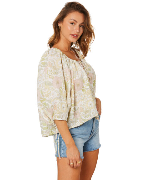 FLORAL FOREST OLIVE WOMENS CLOTHING CHARLIE HOLIDAY FASHION TOPS - TUW7010_FFO