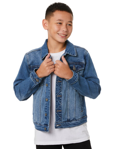 TERRITORY BLUE KIDS BOYS RIDERS BY LEE JUMPERS + JACKETS - R-30149T-NE8