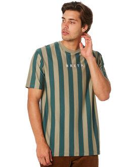 SAGE EMERALD MENS CLOTHING BRIXTON TEES - 02708SAGEM