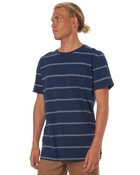 NAVY BLUE MENS CLOTHING RUSTY TEES - TTM1747NVB