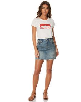 NATURAL WOMENS CLOTHING AFENDS TEES - 50-01-206NAT