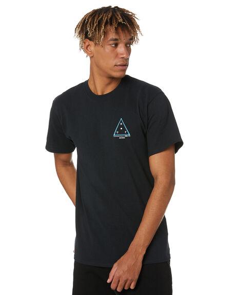 BLACK MENS CLOTHING HUF TEES - TS01246-BLACK