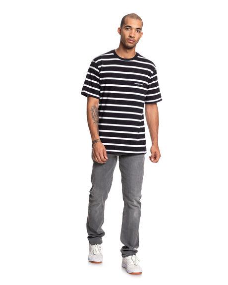 BLACK MENS CLOTHING DC SHOES TEES - EDYKT03479-KVJ0