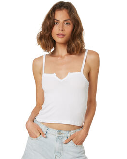 WHITE OUTLET WOMENS SWELL SINGLETS - S8182271WHITE