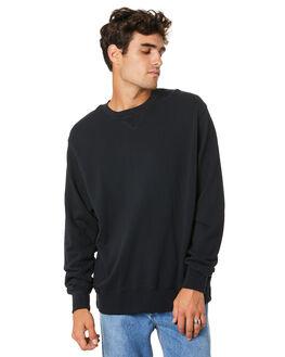 BLACK MENS CLOTHING THRILLS JUMPERS - TW20-229BBLK