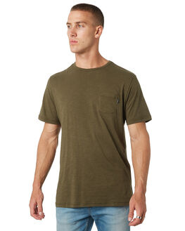 DARK OLIVE MENS CLOTHING RIP CURL TEES - CTEMW29389