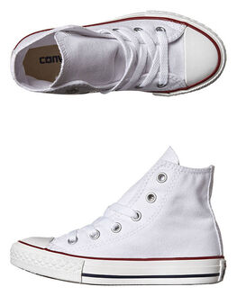OPTICAL WHITE KIDS BOYS CONVERSE SNEAKERS - 3J253WHT