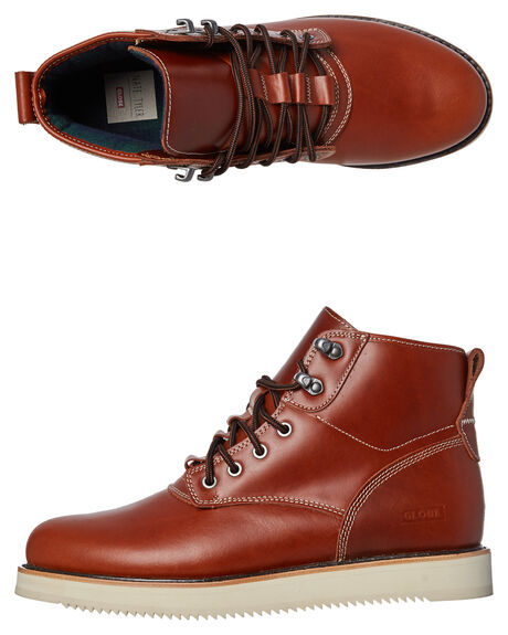 TAWNY BROWN OUTLET MENS GLOBE SNEAKERS - GBKOMACHI-16286