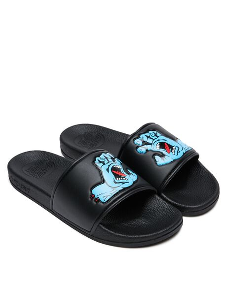BLACK MENS FOOTWEAR SANTA CRUZ SLIDES - SC-MYC9476BLK