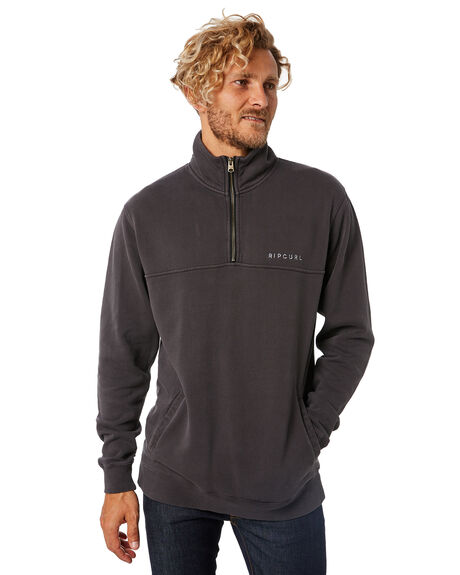 WASHED BLACK MENS CLOTHING RIP CURL JUMPERS - CFEOF18264
