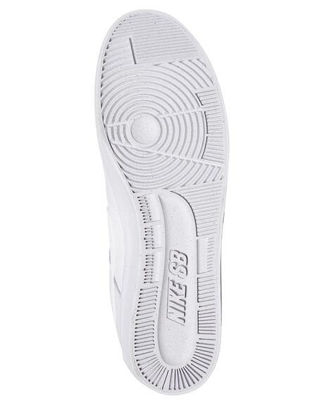 WHITE WHITE MENS FOOTWEAR NIKE SKATE SHOES - 942237-112