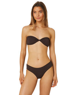 DARK CHOCOLATE WOMENS SWIMWEAR VOLCOM BIKINI BOTTOMS - O2811802DCH