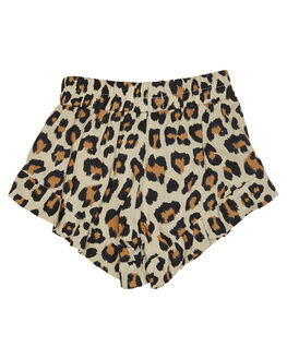 NEW LEOPARD KIDS GIRLS SWEET CHILD OF MINE SHORTS + SKIRTS - SP18BELLASHRTLEO
