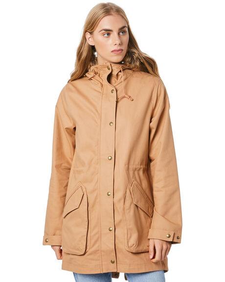 CAMEL WOMENS CLOTHING VOLCOM JACKETS - B1512078CML