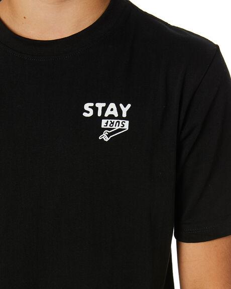 BLACK KIDS BOYS STAY TOPS - STE-20405-KBLK