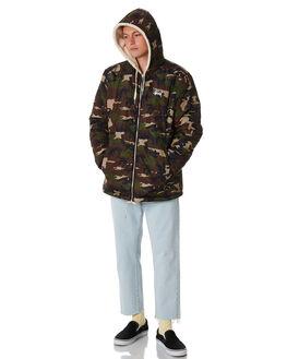 CREAM CAMO MENS CLOTHING STUSSY JACKETS - ST086500CREAM