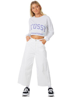 WHITE MARLE WOMENS CLOTHING STUSSY TEES - ST187006WHT