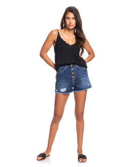 DARK INDIGO WOMENS CLOTHING ROXY SHORTS - ERJDS03223-BYK0