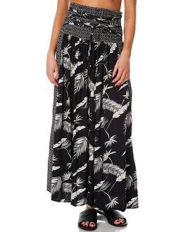 BLACK COMBO WOMENS CLOTHING VOLCOM SKIRTS - B1431775BLC