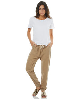 KHAKI WOMENS CLOTHING RUSTY PANTS - PAL0964KHA