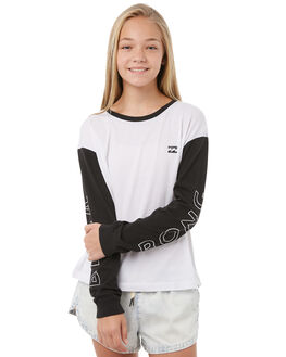 WHITE KIDS GIRLS BILLABONG TEES - 5585073WHT