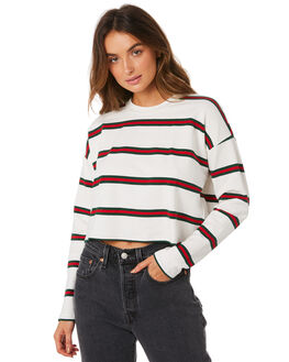 WHT STRIPE WOMENS CLOTHING MINKPINK JUMPERS - MB1809006WHTS
