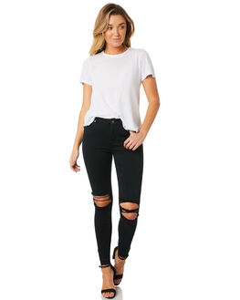 WRECKING BLACK WOMENS CLOTHING DR DENIM JEANS - 1510111-A13