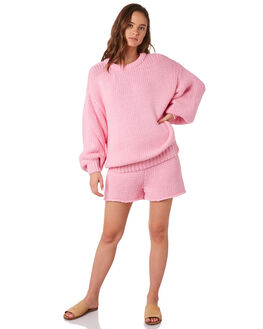 PINK WOMENS CLOTHING ZULU AND ZEPHYR KNITS + CARDIGANS - ZZ2851PPINK