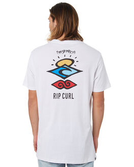 WHITE MENS CLOTHING RIP CURL TEES - CTERQ2WHT