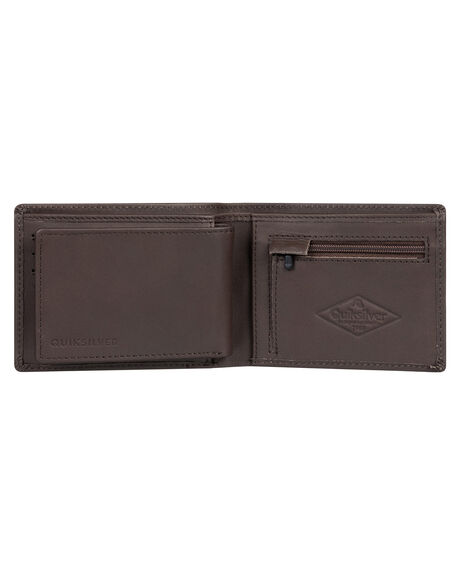 CHOCOLATE BROWN MENS ACCESSORIES QUIKSILVER WALLETS - EQYAA03810-CSD0