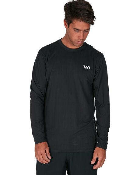 BLACK MENS CLOTHING RVCA TEES - RV-R307091-BLK