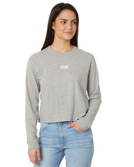 GREY HEATHER WOMENS CLOTHING HURLEY TEES - AJ3628050