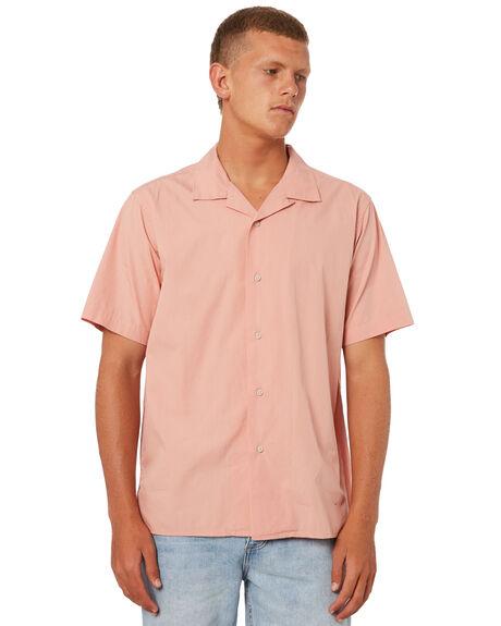 SALMON MENS CLOTHING KATIN SHIRTS - WVALO01SALMN