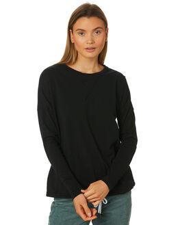 BLACK WOMENS CLOTHING RUSTY TEES - FSL0532BLK