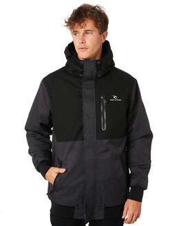 WASHED BLACK MENS CLOTHING RIP CURL JACKETS - CJKEC18264