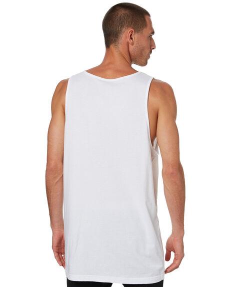 WHITE MENS CLOTHING SANTA CRUZ SINGLETS - SC-MTD0798WHT