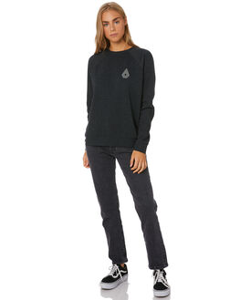 BLACK COMBO WOMENS CLOTHING VOLCOM JUMPERS - B4612075-BLK