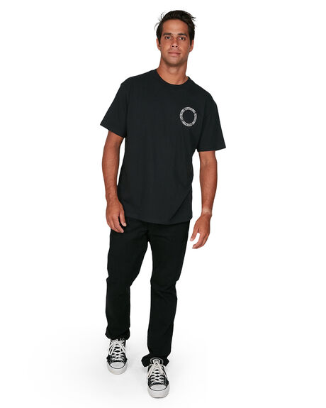 BLACK MENS CLOTHING RVCA TEES - RV-R106068-BLK