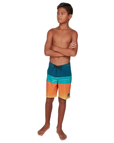 MAJOLICA BLUE KIDS BOYS QUIKSILVER BOARDSHORTS - EQBBS03443-BSM6