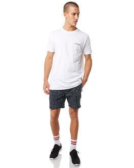 NAVY WHITE MENS CLOTHING ZANEROBE BOARDSHORTS - 611-PRENVWH