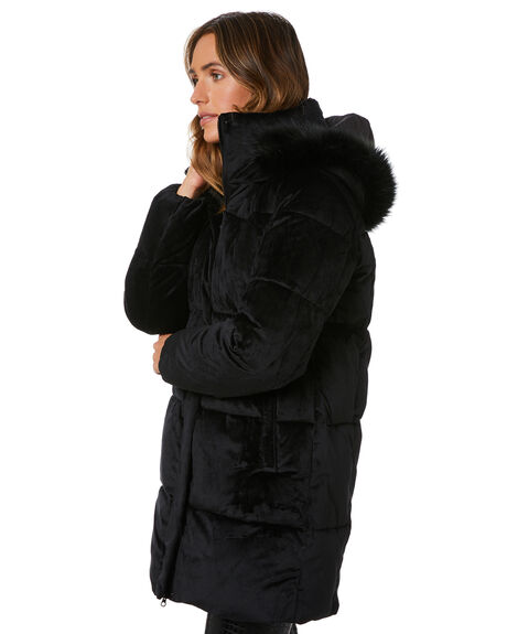 BLACK WOMENS CLOTHING UNREAL FUR JACKETS - URF8200135BLK