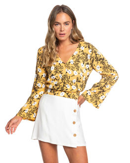 HONEY GOLD HONEY WOMENS CLOTHING ROXY FASHION TOPS - ERJWT03359-YJY6