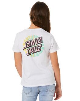 WHITE KIDS GIRLS SANTA CRUZ TOPS - SC-GTA0148WHT