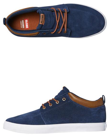 NAVY SUEDE MENS FOOTWEAR GLOBE SKATE SHOES - GBGSCHUKKA-13068