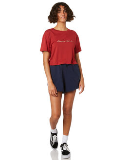 RED WOMENS CLOTHING COOLS CLUB TEES - 116-CW1RED
