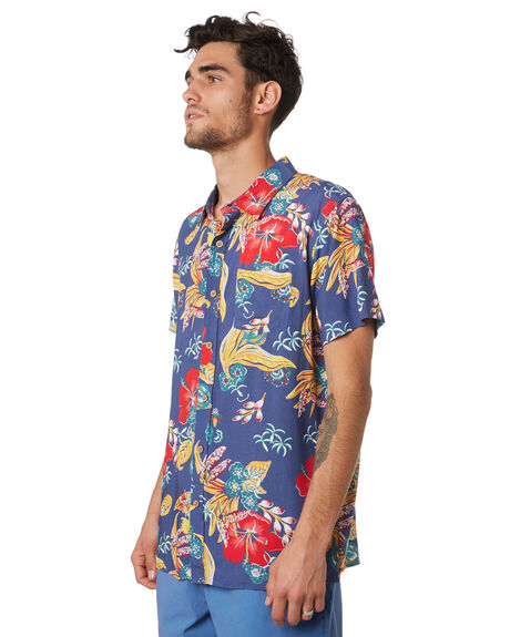 BLUE MULTI OUTLET MENS THE CRITICAL SLIDE SOCIETY SHIRTS - SS1869BLUE