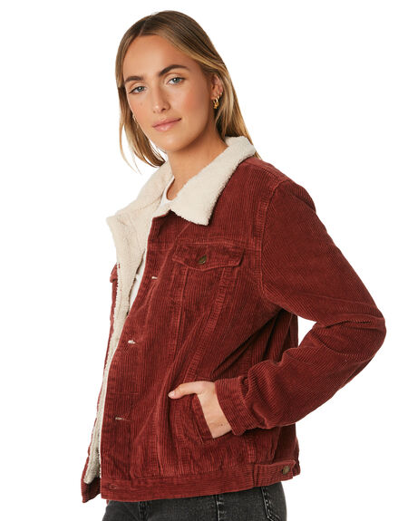 BLOOD RED WOMENS CLOTHING THRILLS JACKETS - WTA9-211HBRED